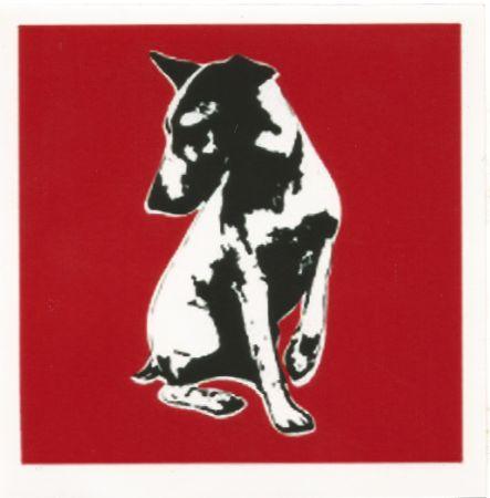 Sérigraphie Blek Le Rat - His Master's Voiceless (Red)