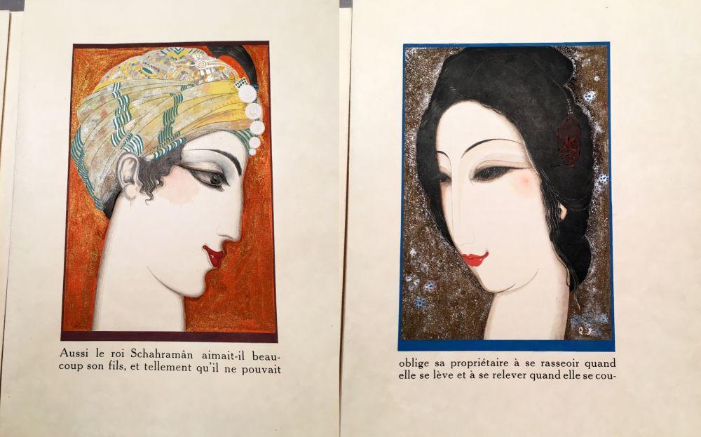 Livre Illustré Schmied - HISTOIRE DE LA PRINCESSE BOUDOUR. Conte des mille et une nuits. (1926)