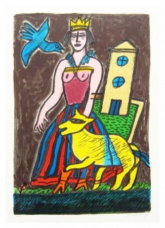 Lithographie Corneille - Histoire d'une reine