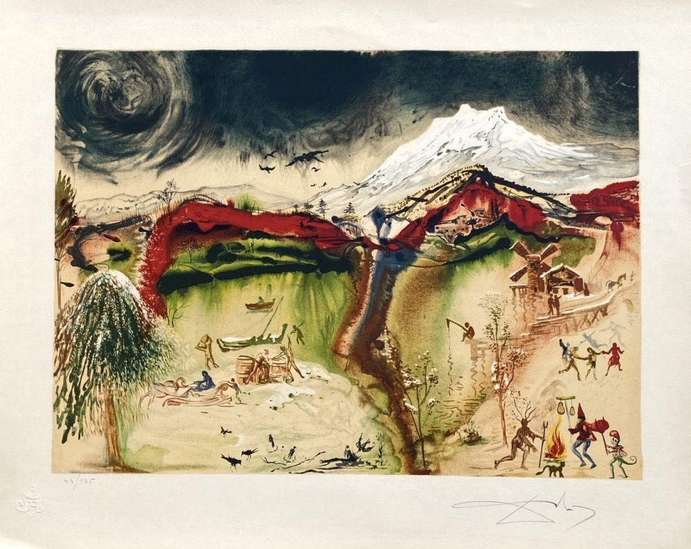 Lithographie Dali - Hiver (4 saisons)