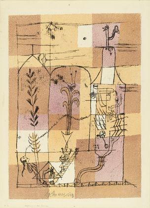 Lithographie Klee - Hoffmanneske Szene