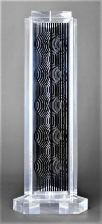 Multiple Vasarely - HOLLD (Moire tower)
