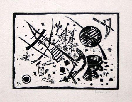 Gravure Sur Bois Kandinsky - Holzschnitt für die Ganymed-Mappe (from Der Dritten Ganymed-Mappe)
