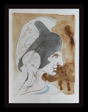 Gravure Dali - Homage a Leonardo Condottiere