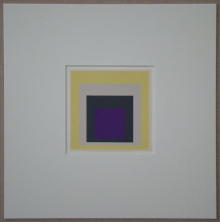 Sérigraphie Albers - Homage to the Square - Dedicated