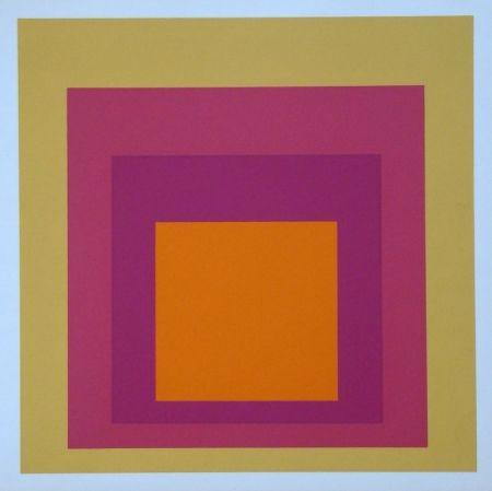 Sérigraphie Albers - Homage to the Square - La Tehuana, 1951-1956