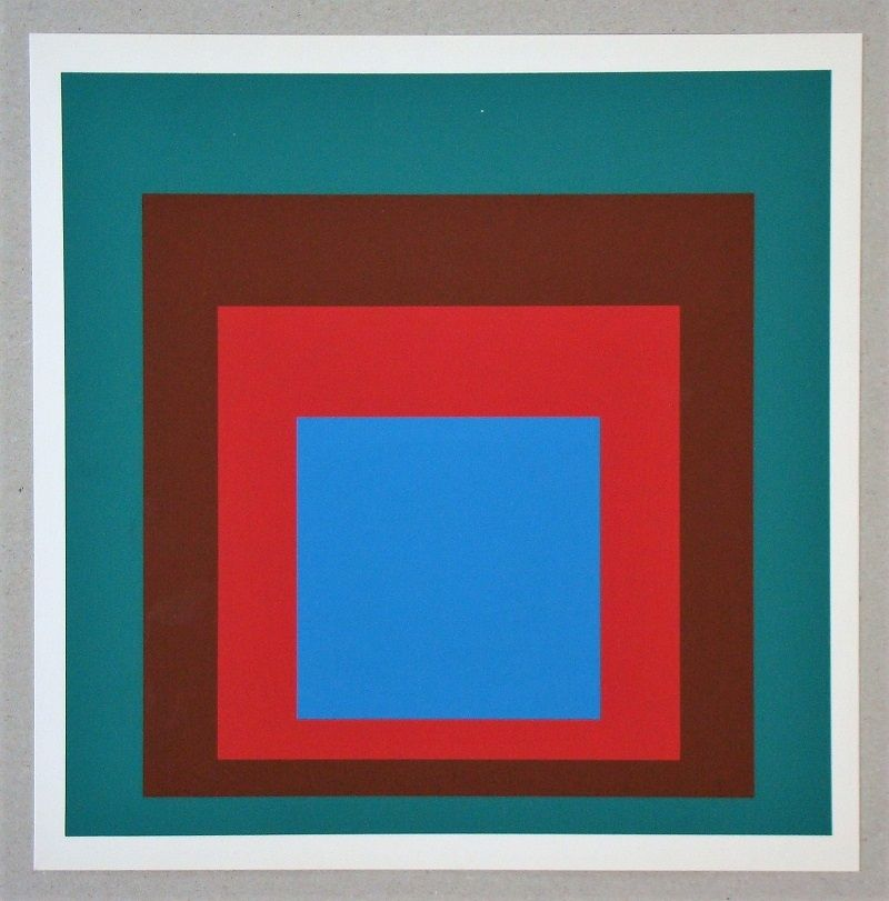 Sérigraphie Albers - Homage to the Square - Protected Blue - 1957