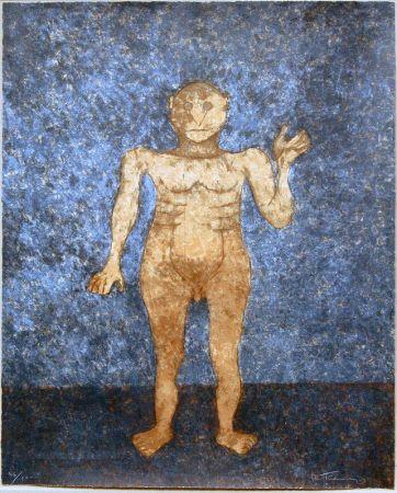 Sérigraphie Tamayo - Hombre En Ocre