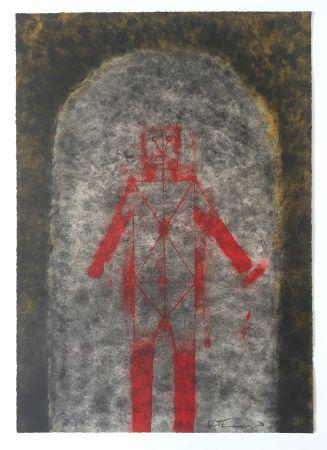 Lithographie Tamayo - Hombre en Rojo