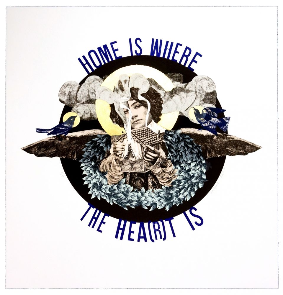 Lithographie Madame - Home is where the heart is