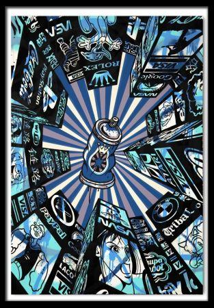 Sérigraphie Speedy Graphito - Home Street Home (Blue)