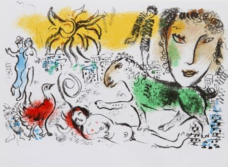 Lithographie Chagall - Homecoming