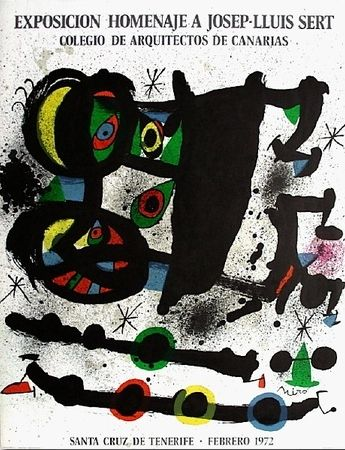 Lithographie Miró - Homenaje A Josep-Lluis Sert