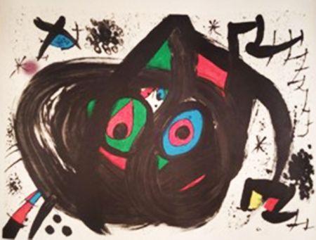 Lithographie Miró - Homentage a Joan Prats