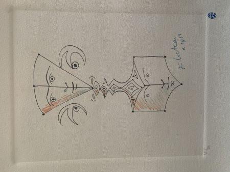 Lithographie Cocteau - Hommage