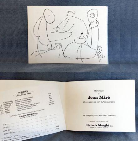 Aucune Technique Miró - HOMMAGE À JOAN MIRO à l'occasion de son 90e anniversaire (1983)