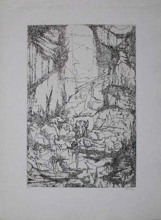 Gravure Eliasberg - Hommage à Dürer (Phantasielandschaft für Dürer)