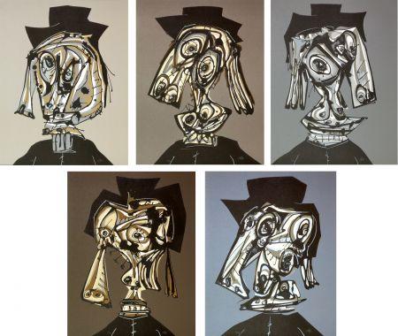 Lithographie Saura - Hommage à Dora Maar I, II, III, IV, V