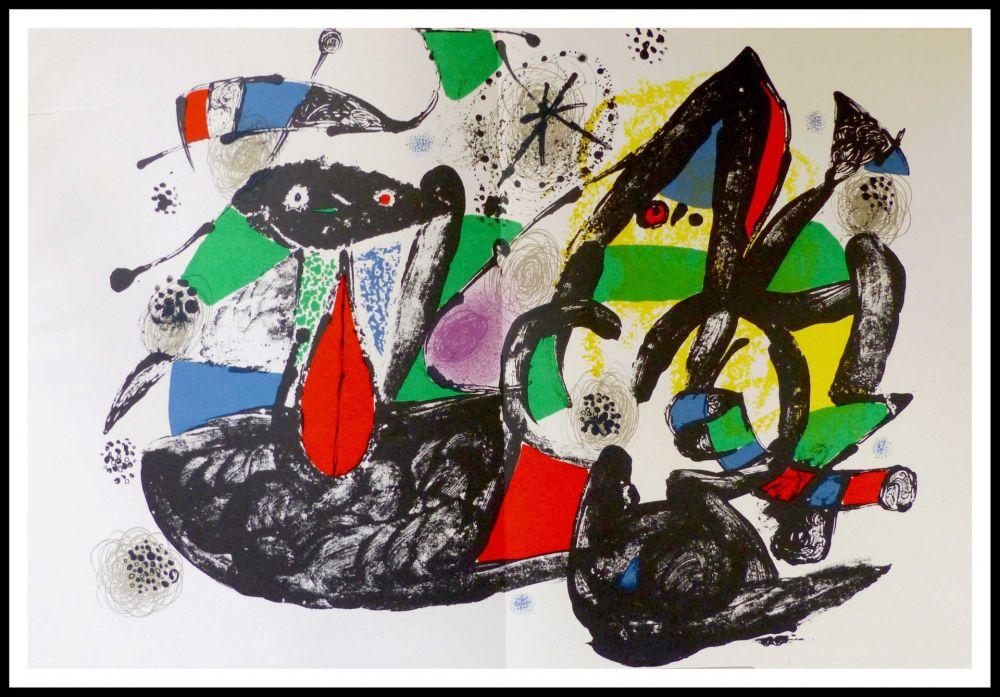 Lithographie Miró - Hommage à Dorothea Tanning