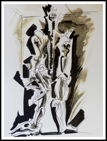 Lithographie Masson - Hommage à Dorothea Tanning