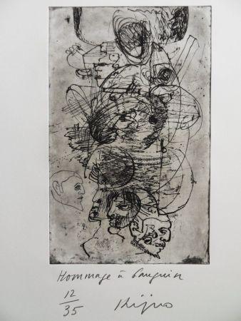 Gravure Kijno - Hommage à Gauguin