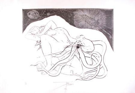 Eau-Forte Trémois - Hommage à Hokusai