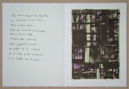 Lithographie Vieira Da Silva - Hommage à Jean Cassou, 1975