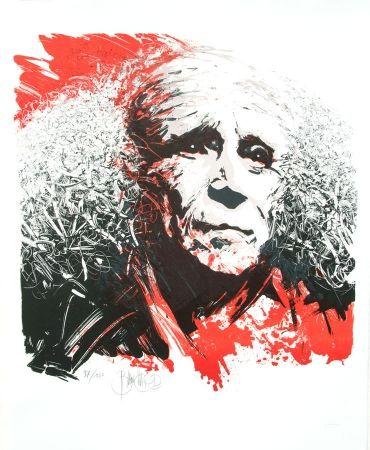 Lithographie Blanchard - Hommage à Léo Ferré