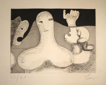 Gravure Baj - Hommage à Le Corbusier