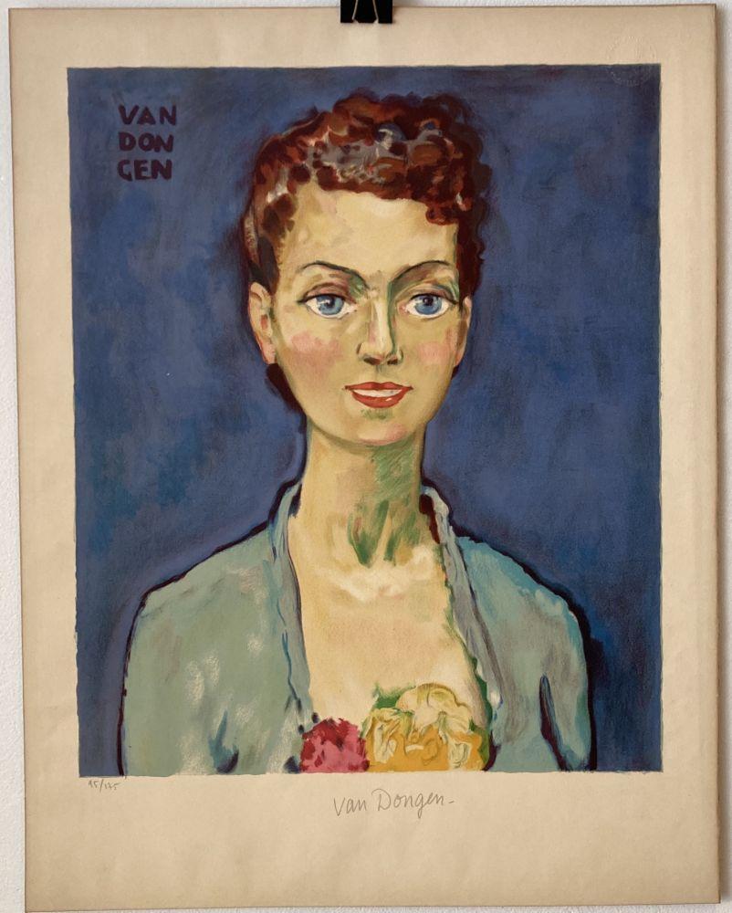 Lithographie Van Dongen - Hommage à Marie-Claire- Circa 1950