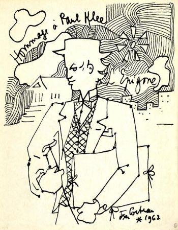 Lithographie Cocteau - Hommage à Paul Klee