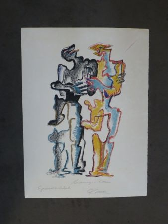 Lithographie Zadkine - Hommage à Rodin