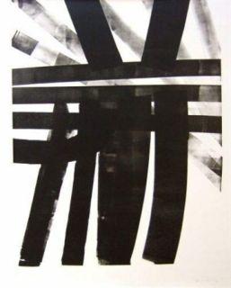 Lithographie Hartung - Hommage à Saint Sébastien Bach