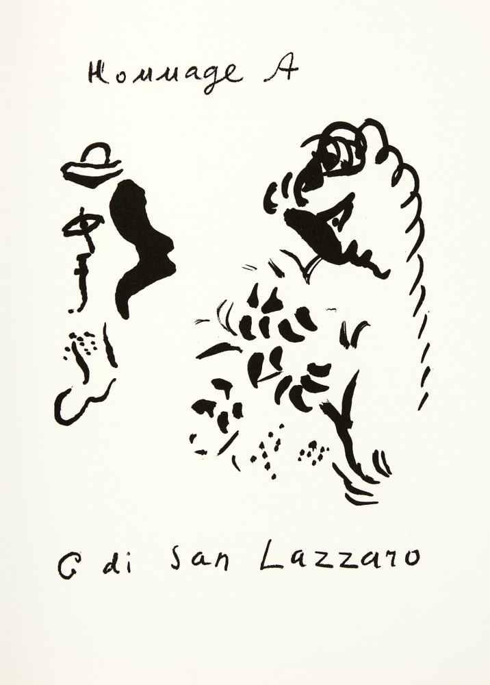Lithographie Chagall - Hommage à San Lazzaro