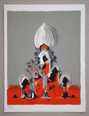 Lithographie Sutherland - Hommage à San Lazzaro