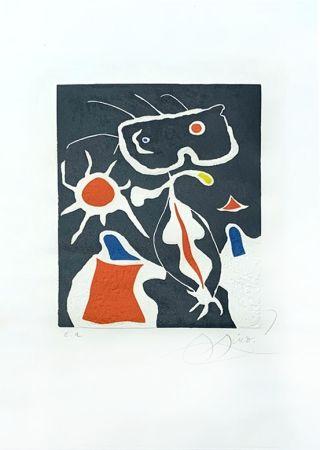 Gravure Miró - Hommage à San Lazzaro