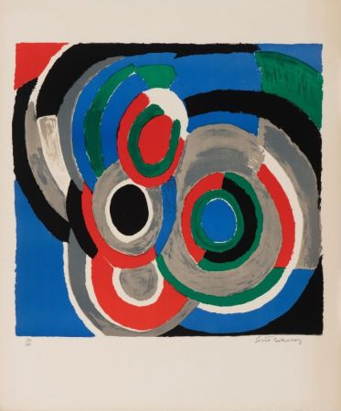 Lithographie Delaunay - Hommage à Stravinsky