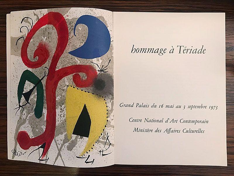 Livre Illustré Miró - Hommage à Teriade
