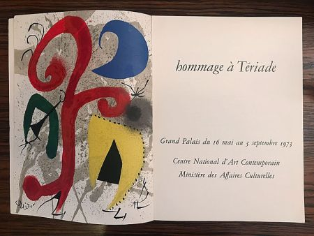Lithographie Miró - Hommage à Teriade