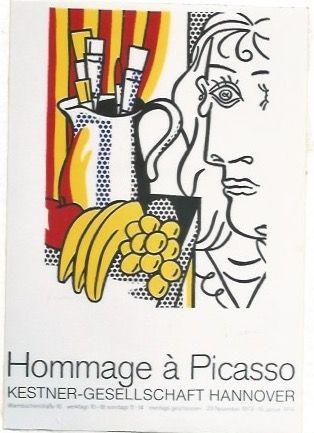 Affiche Lichtenstein - Hommage á Picasso