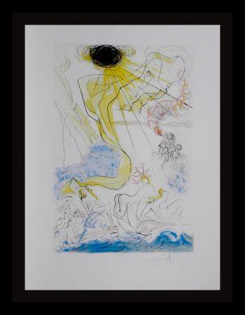Gravure Dali - Hommage a Albrecht Durer Triomphe de Venus