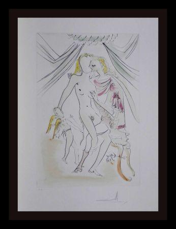 Gravure Dali -  Hommage a Albrecht Durer Venus Mars Cupidon