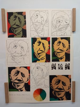 Lithographie Bury - Hommage a Picasso