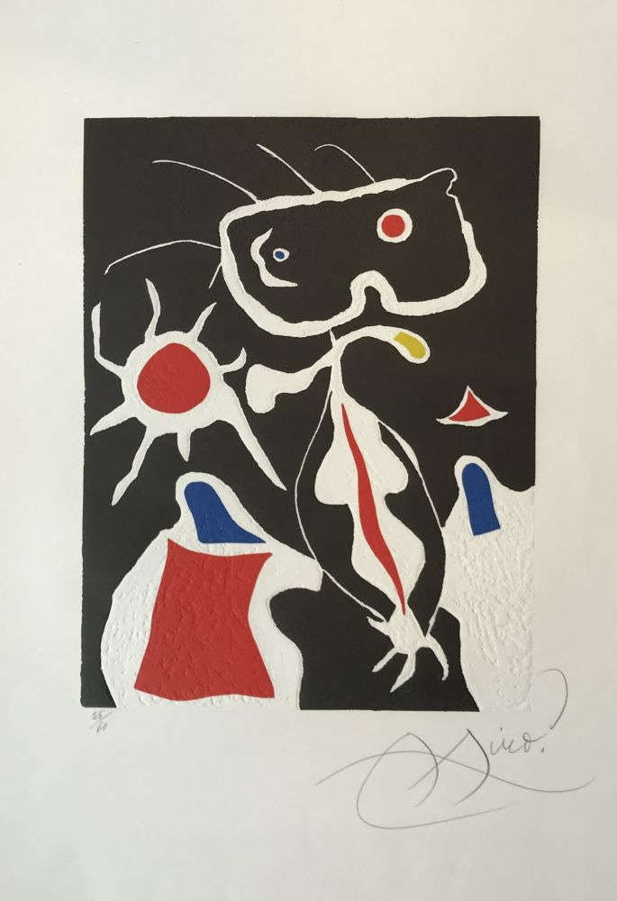 Linogravure Miró - Hommage a San Lazzaro