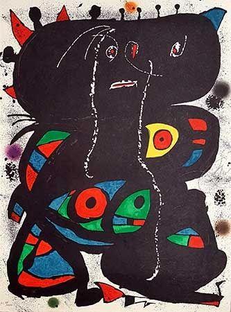 Lithographie Miró - Hommage aux prix Nobel
