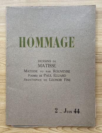 Photographie Matisse - Hommage, Dessins de Matisse (
