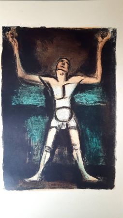 Lithographie Rouault (After) - Homme