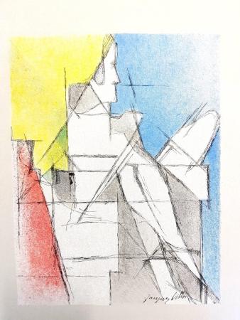 Lithographie Villon - Homme