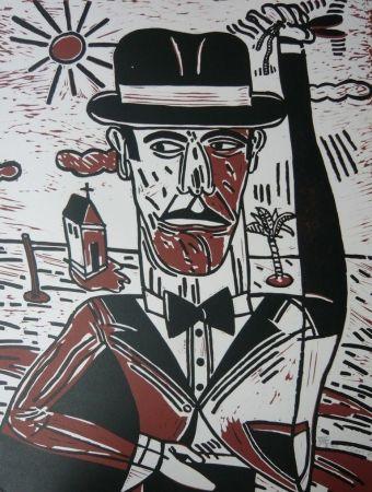 Lithographie Segui - Homme aux castagnettes