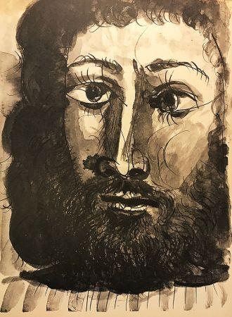 Aucune Technique Picasso (After) - Homme barbu à la chemise rayée
